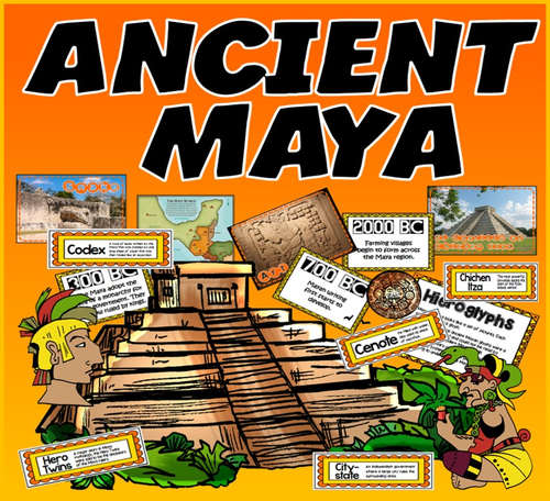 ANCIENT MAYA TEACHING RESOURCES HISTORY KEY STAGE 2 DISPLAY PACK