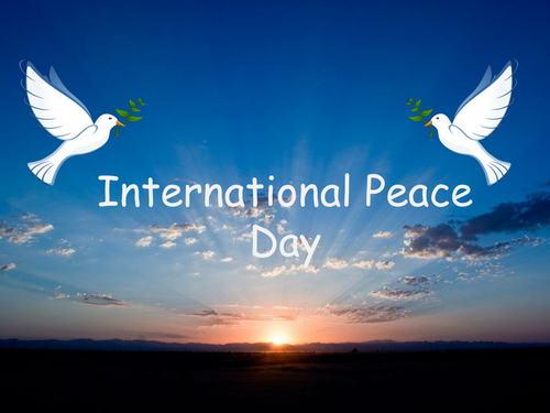 International Peace Day 21st September - informative and interesting presentation for assembly