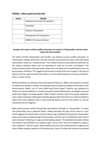 AQA Conflict and Power model essay