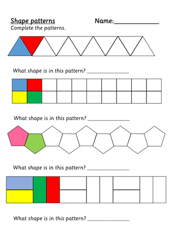 shape patterns by weezywombat teaching resources tes