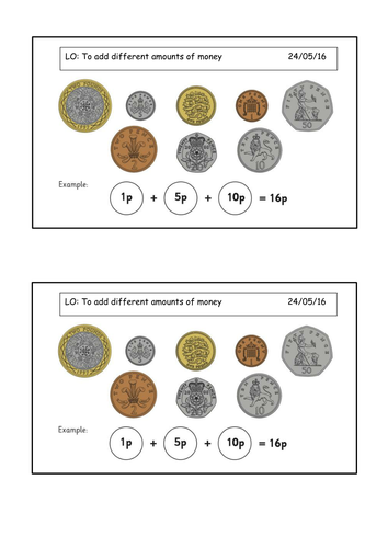 Early years geometry and measures teaching resources: Money   TES