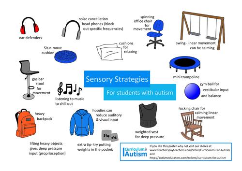 Autism Awareness FREE Sensory Strategies Poster