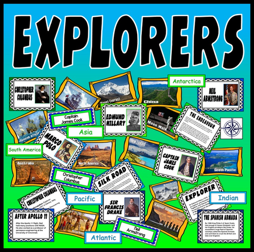 EXPLORERS TEACHING RESOURCES HISTORY GEOGRAPHY key stage 2 WORLD TRAVEL