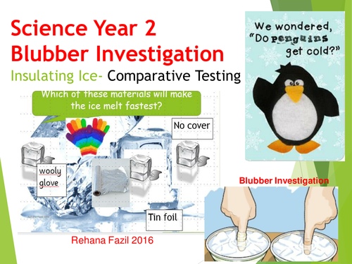 Year 2 Materials Ice and Blubber  Enquiry