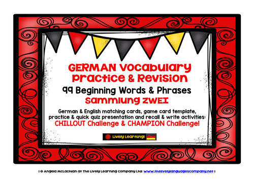 german vocabulary practice revision games activities 3 99 beginning words phrases by. Black Bedroom Furniture Sets. Home Design Ideas