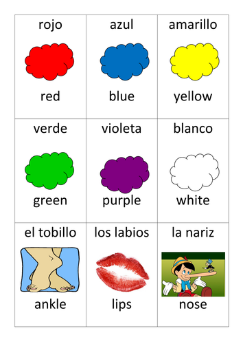 Spanish Snap Game