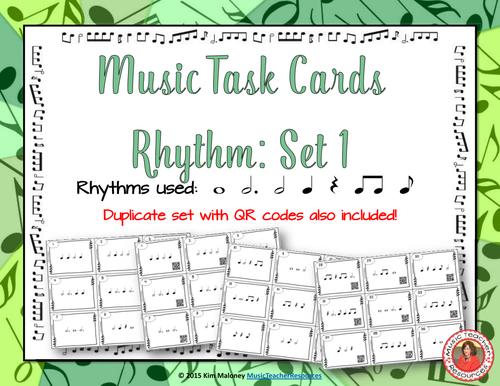 Rhythm Task Cards Set 1