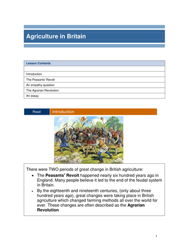 History of agriculture in Britain