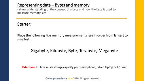 Bytes - measuring memory size