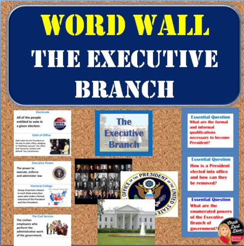 Constitution Federalism Vocabulary Word Wall Posters
