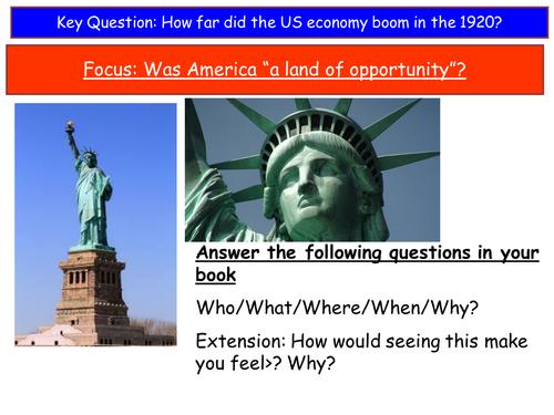 USA 1919-41 Boom lessons