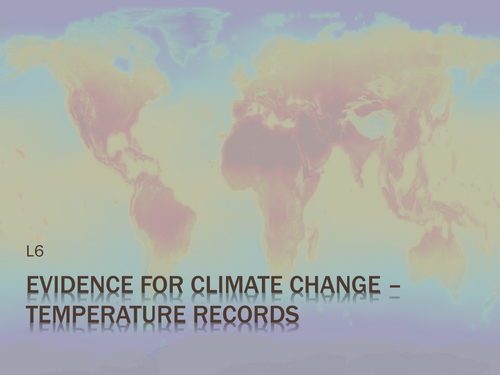 SNAB 2016 Topic 5 Climate Change Studies - a set of three lessons