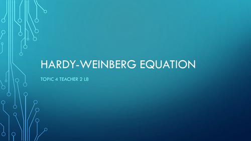 SNAB 2016 Topic 4 Hardy-Weinberg Equation