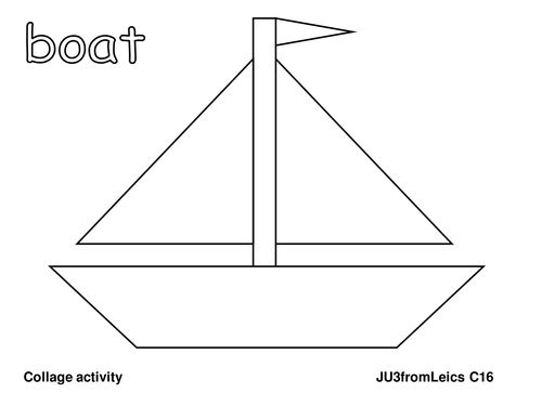 boat template by ju3fromleics teaching resources tes