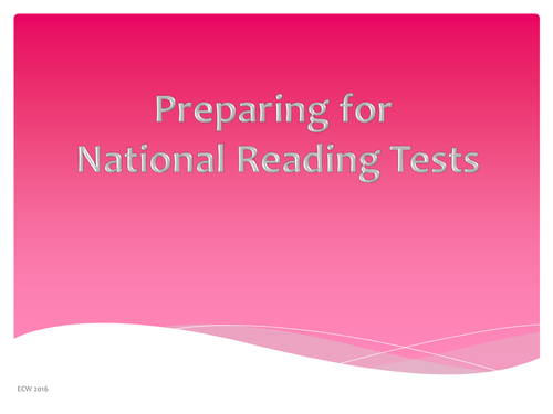 National Reading Test preparation