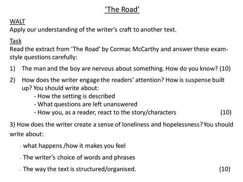 Reading Fiction - The Road