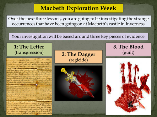 KS2/3/4/5 Macbeth Exploration Week - Lesson 1: 'The Letter'
