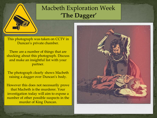KS2/3/4/5 Macbeth Exploration Week - Lesson 2: 'The Dagger'