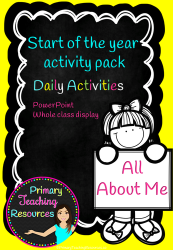 All About Me - Back to School Activities and PowerPoint (EYFS, KS1 and lower KS2).