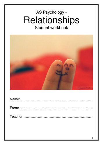Relationships Workbook - All Topics - AQA New Specification
