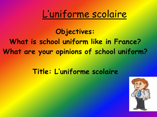 Mon uniforme scolaire