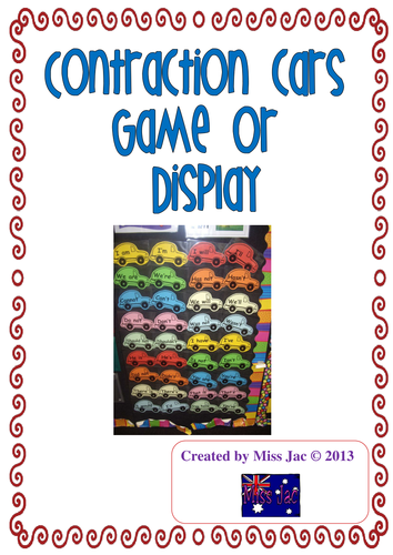 Contraction cars display or contraction cars game
