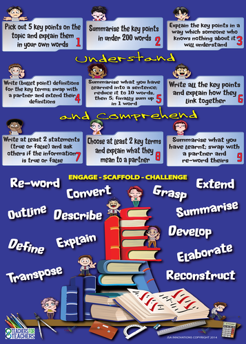 Lesson Activities Poster [extensions] 2 (Understanding and Comprehension)