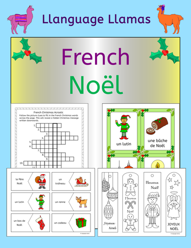 french christmas noel game cards and flashcards by us teacher lessons tes. Black Bedroom Furniture Sets. Home Design Ideas
