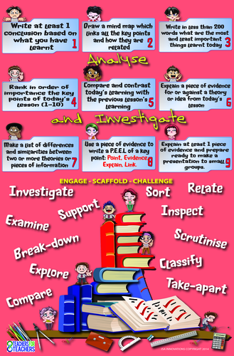 Lesson Activities Poster [extensions] 4 (Analyse and Investigate)