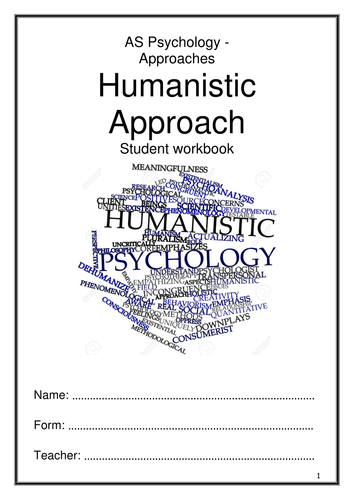 Humanistic Approach Workbook - AQA New Specification