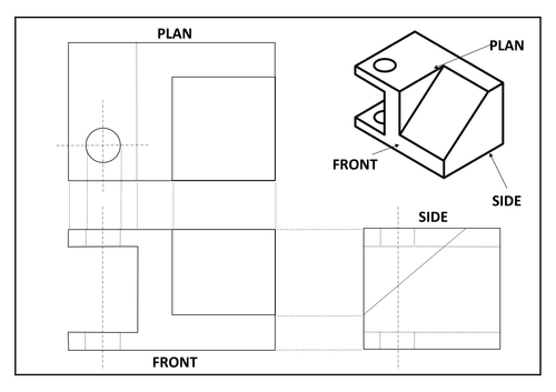 revision create 2 point perspective from orthographic by si forestiero teaching resources tes. Black Bedroom Furniture Sets. Home Design Ideas