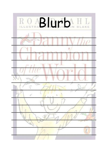 Diary writing ks2 by dillydinsoaur teaching resources tes roald dahl danny champion of the world blurb template pronofoot35fo Image collections