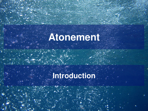 Introduction to Atonement