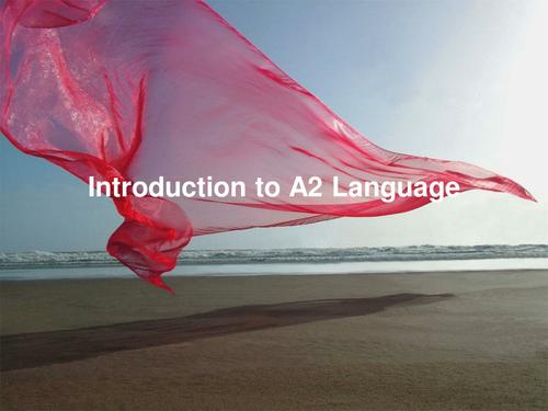 AQA Introdution to A2 Language