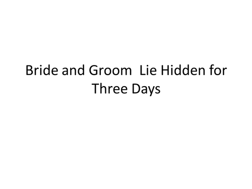 Ted Hughes Cock Crows and Bride and Groom Lie Hidden for Three Days