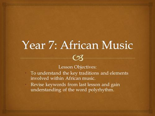 African Drumming Scheme of Work