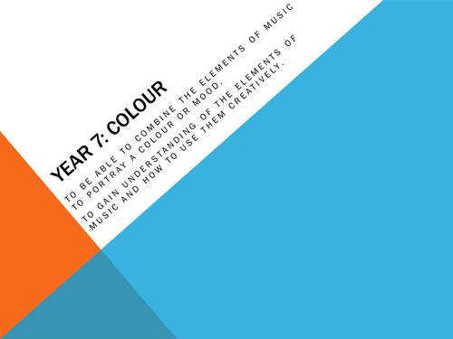 Colour/Soundscapes/Mood Music Scheme of Work