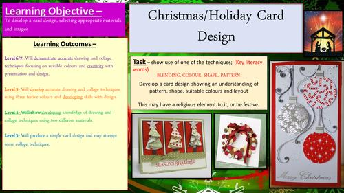Creative Christmas card design