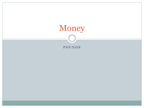 Money Introduction for KS1