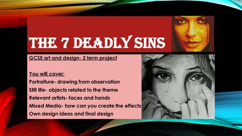 GCSE ART- THE 7 DEADLY SINS