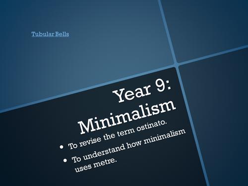 Minimalism Scheme of Work