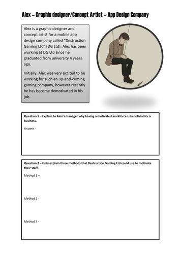 Motivation Scenarios - GCSE Business Studies by jaebuc - Teaching ...