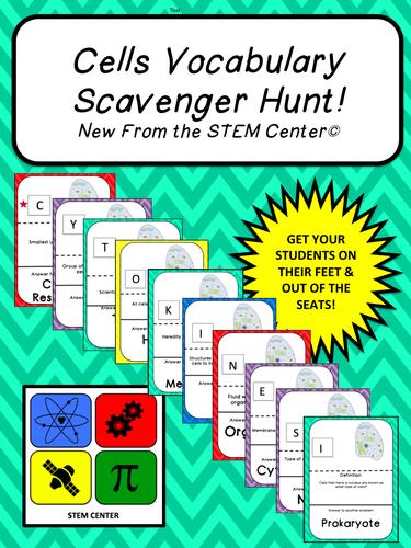 Cells Scavenger Hunt Game