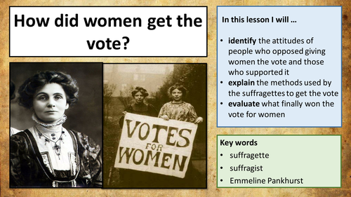 Industrial Revolution - Women Getting The Vote (The Suffragists and the Suffragettes)