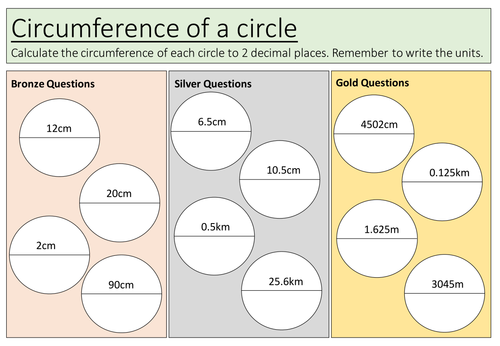 Differentiated Circles Worksheet By Shelleysmith27