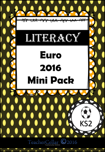 Euro 2016 set of two mini Numeracy and Literacy workbooks