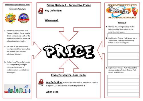 Marketing - Marketing Mix - Price - Pricing Strategies