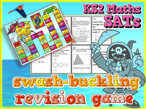 KS2 SATs Maths Revision Board Game - Pirate Theme