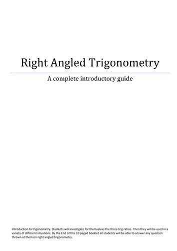 Right Angled Trigonometry Workbook