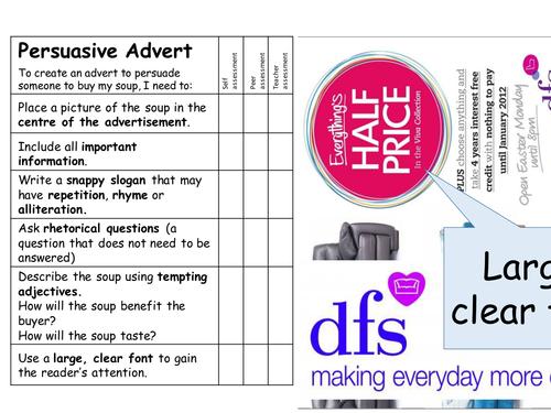 Creating a PERSUASIVE ADVERT